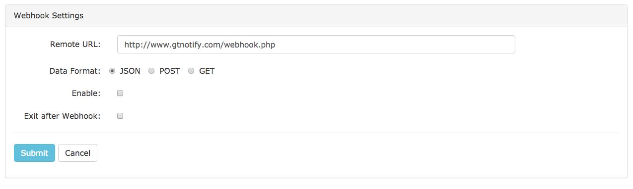 SMS Web Hook