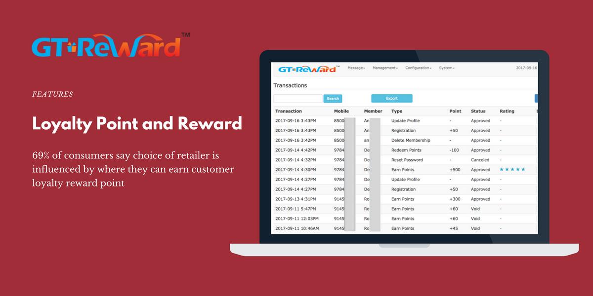 GT Reward - Loyalty Point and Reward
